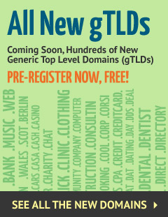new gTLDs available for pre-registration